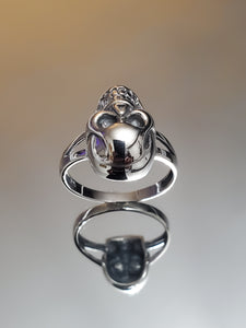 Large Skull Ring Sterling Silver 925