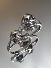 Load image into Gallery viewer, Small Skull Ring Sterling Silver 925