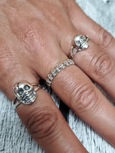 Load image into Gallery viewer, Large Skull Ring Sterling Silver 925