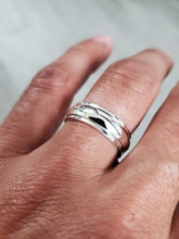 Load image into Gallery viewer, Sterling Silver Spinner Wedding Band