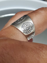 Load image into Gallery viewer, Aztec Calendar Ring