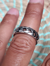 Load image into Gallery viewer, Cuban Link Ring, Stainless Steel 316L, Wedding Band, Chain Ring