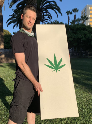 Dope Acoustic Panel. All Hemp. No fiberglass or mineral wool. (Pot Leaf) - Dope Panels