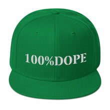 Load image into Gallery viewer, Dope Hat (White 100%DOPE logo) - Dope Panels