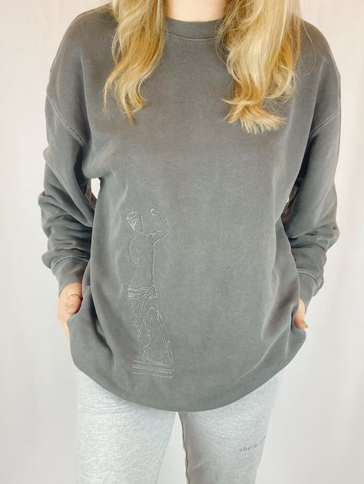 APHRODITE DARK GREY CREWNECK