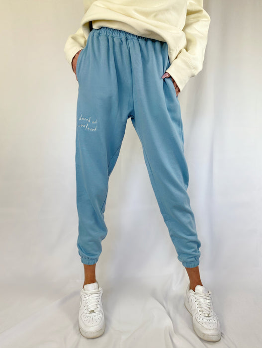 'DAZED NOT CONFUSED' BLUE SWEATPANTS