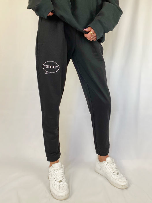 'SIGH' BLACK SWEATPANTS