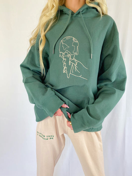 CLIMATE CHANGE GREEN HOODIE