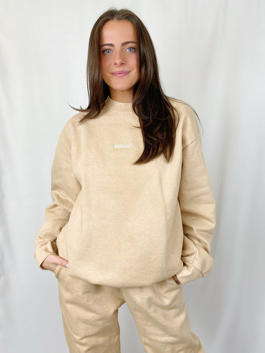 VIRGO TAN CREWNECK