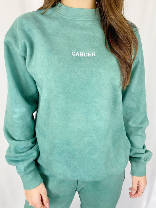 CANCER GREEN CREWNECK