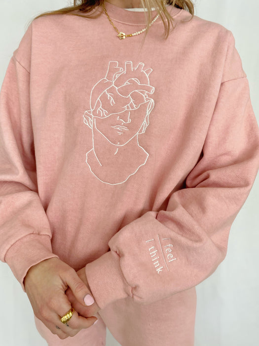 LIMITED EDITION WITH ALL MY HEART PINK CREWNECK