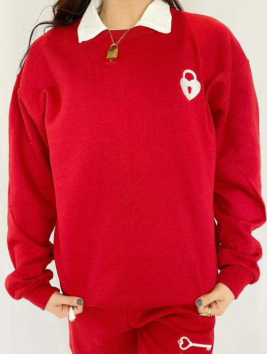 FINDERS KEEPERS RED CREWNECK