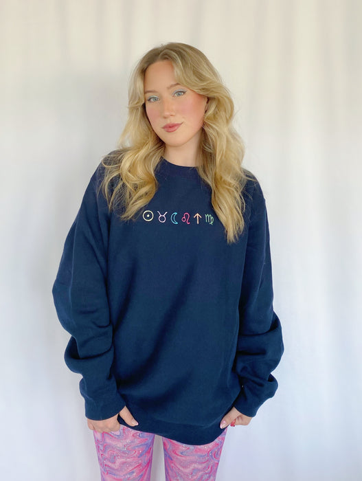 BIG THREE PERSONALIZED CREWNECK