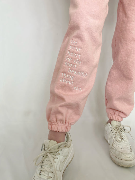 LIMITED EDITION WITH ALL MY HEART PINK SWEATPANTS