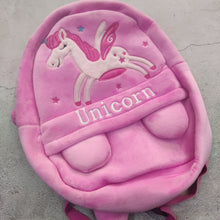 Load image into Gallery viewer, Full sized unicorn soft fur back pack pink : display piece sale