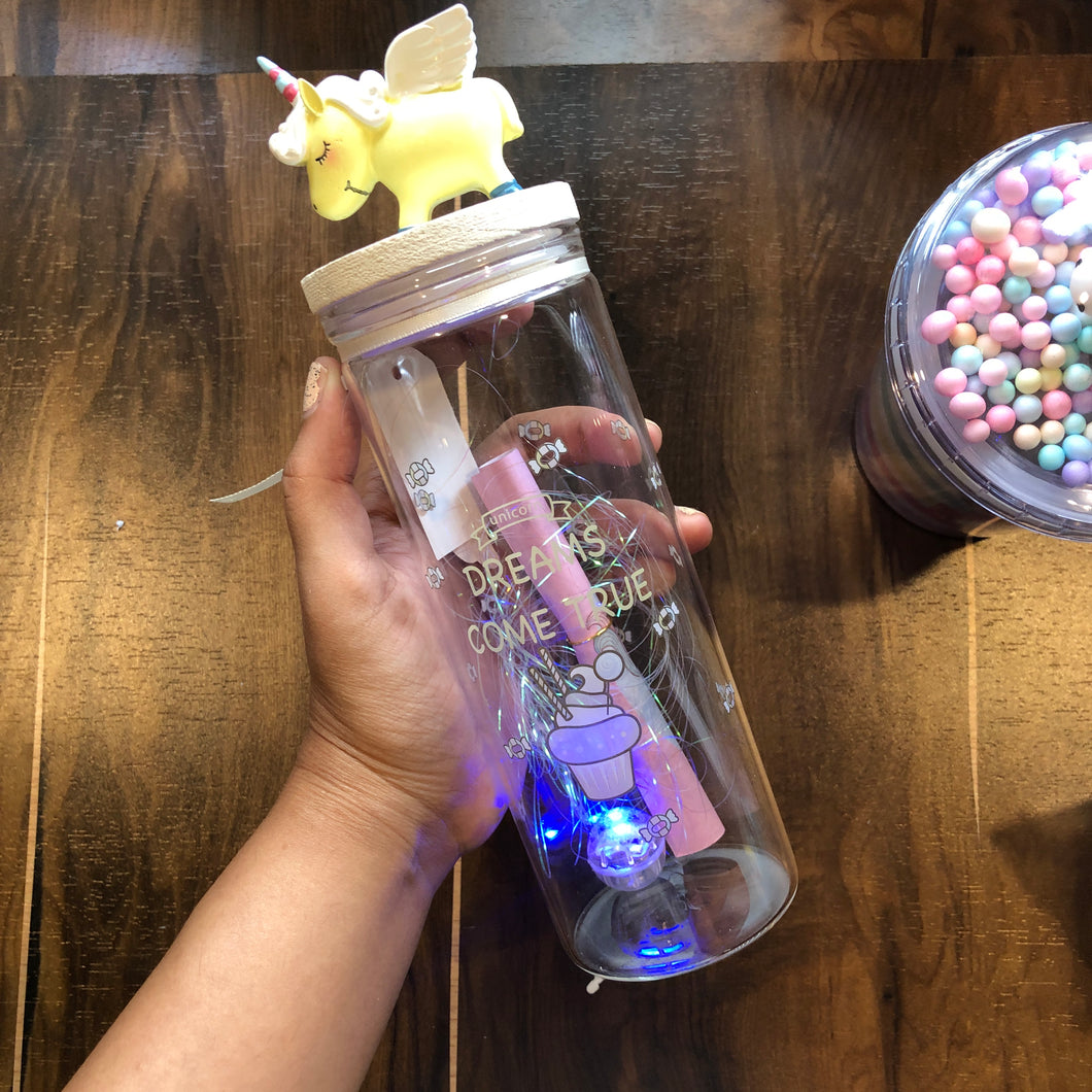 Unicorn LED Message Jar - Big Size