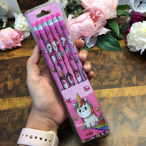 Unicorn Pencils : Pack of 12