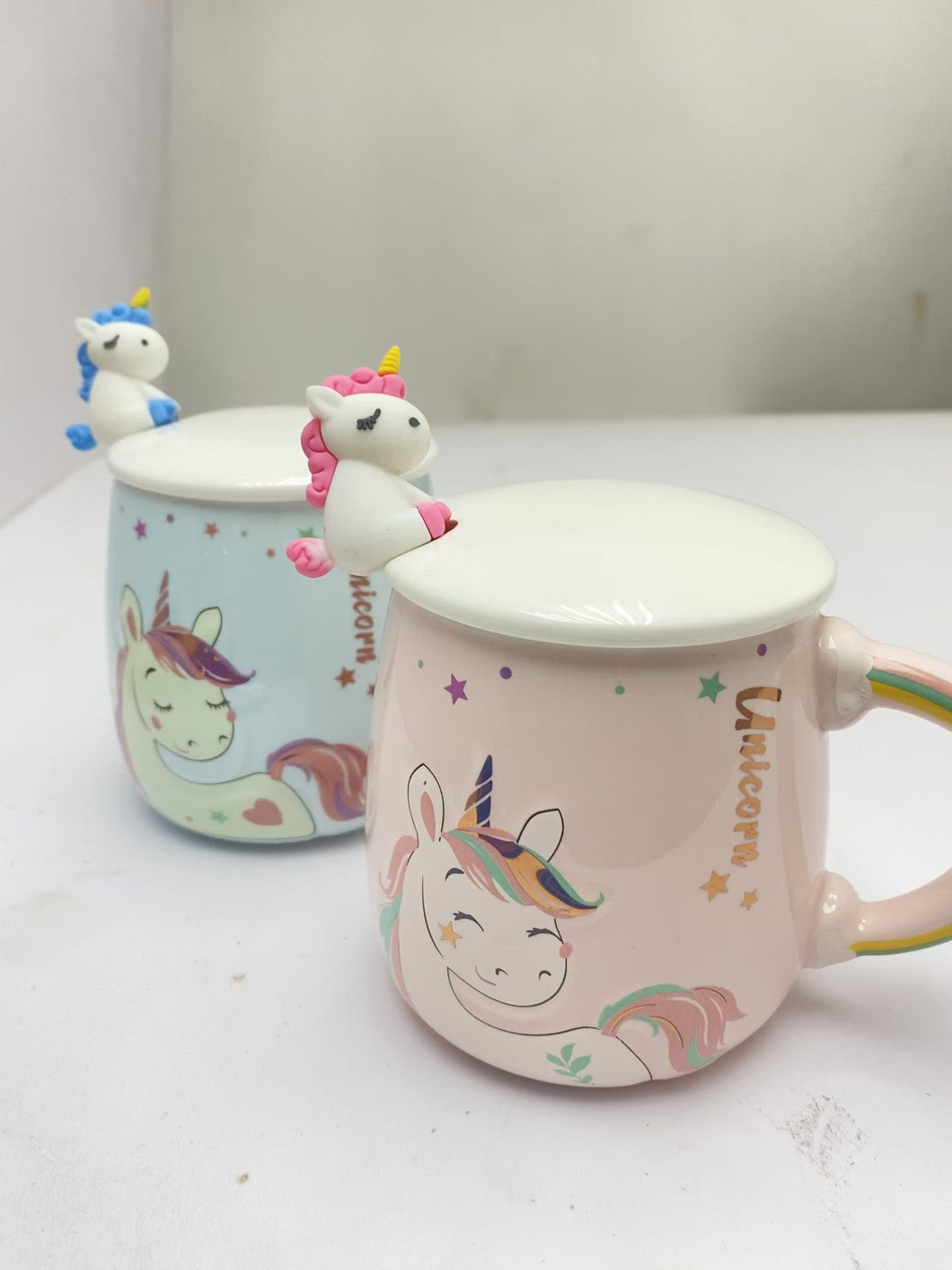 Unicorn Mug with Unicorn Spoon and Lid