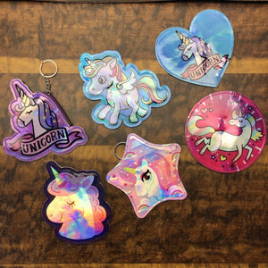 Unicorn Holographic Coin Pouches : Assorted Colors