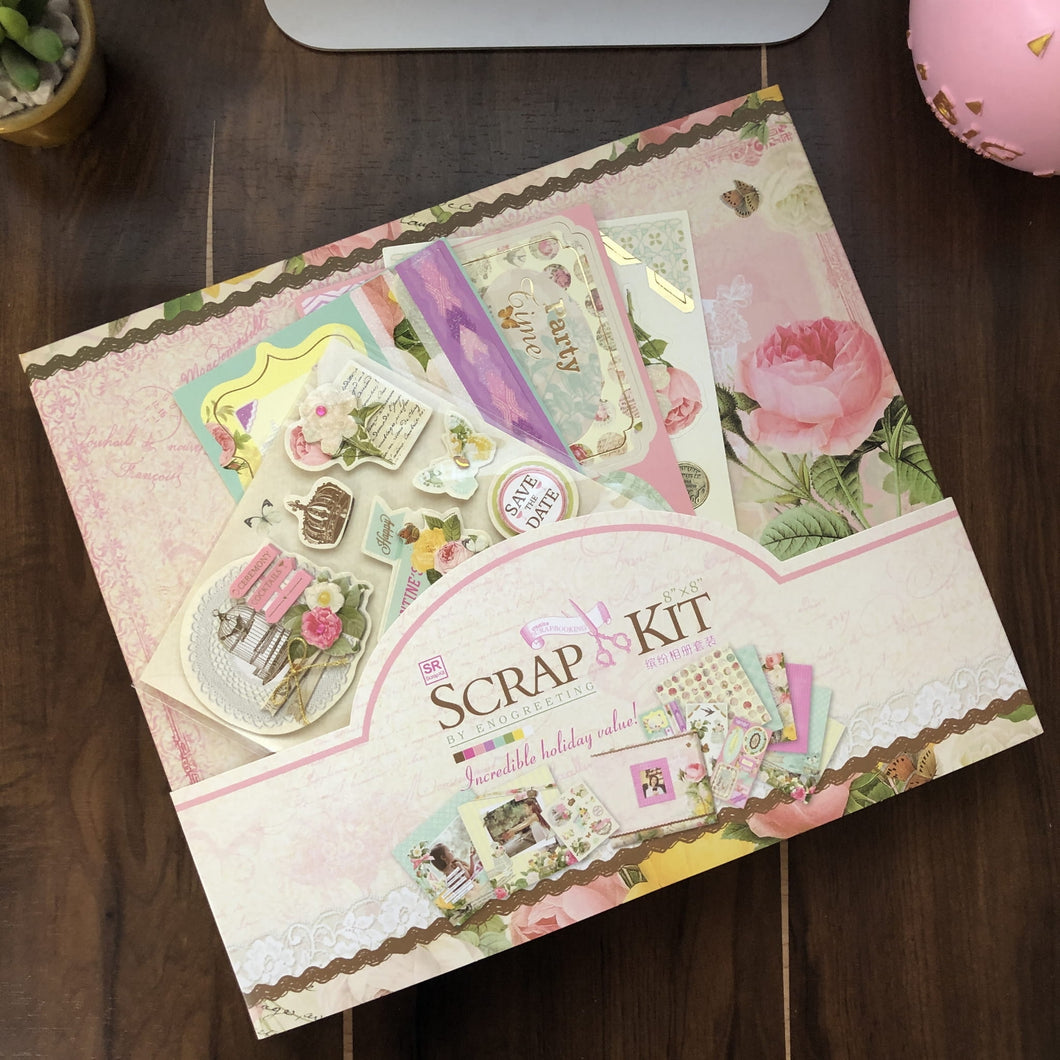 Scrap Book Kit - Assorted Floral Themes