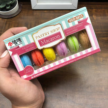 Load image into Gallery viewer, Macaron eraser box (pack of 6 macaron erasers)