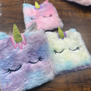 Unicorn Square Fur Coin Pouch - clearance sale
