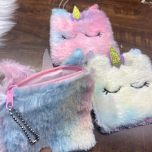Load image into Gallery viewer, Unicorn Square Fur Coin Pouch - clearance sale