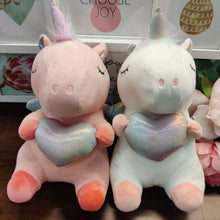 Load image into Gallery viewer, Unicorn Heart Soft-toy plushie