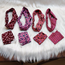 Load image into Gallery viewer, Headband and Mask set - pink shades