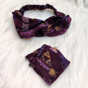 Headband and Mask set - Abstract shades