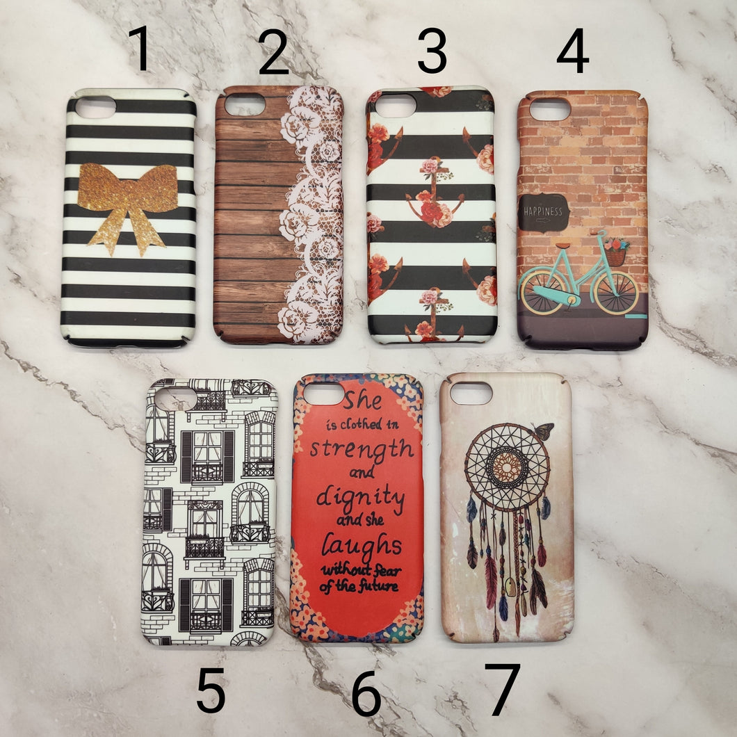 SALE : iPhone 7/8/SE 2020 phone cases : White Black Brown
