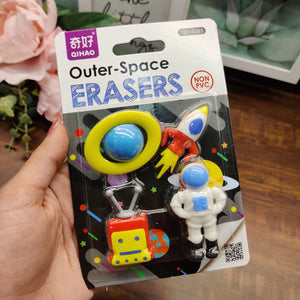 Space Series Eraser Set