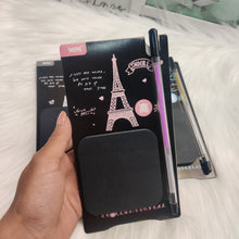 Load image into Gallery viewer, Black Eiffel Sticky Notes with Glitter Pen