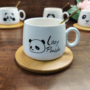 Panda Cup with Stirrer & Coaster
