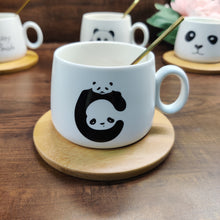 Load image into Gallery viewer, Panda Cup with Stirrer & Coaster