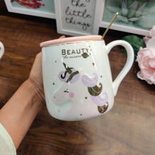 Load image into Gallery viewer, Unicorn Pink Beauty Golden Mug