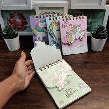 Load image into Gallery viewer, Unicorn Golden Spiral pocket Notepad
