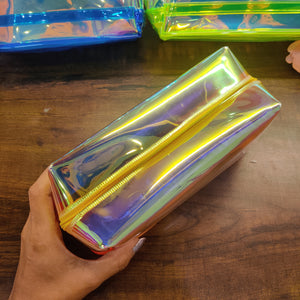 Holographic Colour Jumbo Pouch- clearance sale