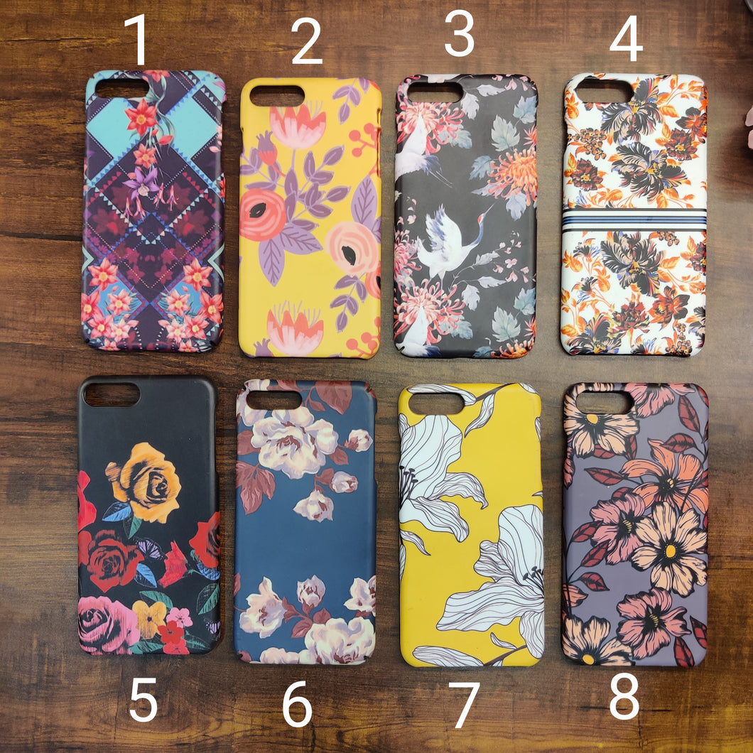 SALE : iPhone 7 plus / 8 plus phone cases : Floral Design 1