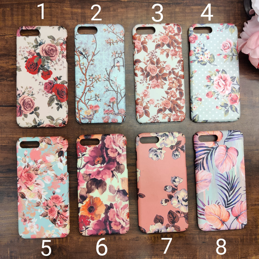 SALE : iPhone 7 plus / 8 plus phone cases : Floral Designs