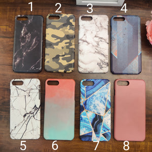 SALE : iPhone 7 plus / 8 plus phone cases : Marble & Patterns
