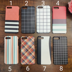 SALE : iPhone 7 plus / 8 plus phone cases : Stripes & Checks
