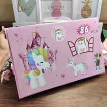 Load image into Gallery viewer, 86 piece Unicorn Art Briefcase Kit