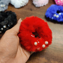 Load image into Gallery viewer, Fat Fur Pearls Hairtie Scrunchie