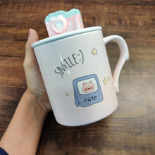 Load image into Gallery viewer, Camera Pastel Vintage Camera Mug with Lid- clearance sale