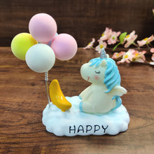 Load image into Gallery viewer, Dreamy unicorn with balloons collectible tablepiece- clearance sale