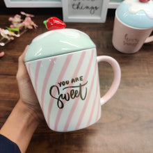 Load image into Gallery viewer, Pastel Cupcake Mug with Lid