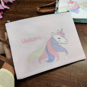 Unicorn Print Pouch with Handle