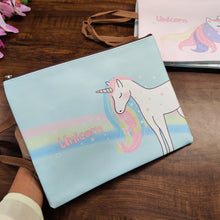 Load image into Gallery viewer, Unicorn Print Pouch with Handle