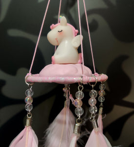 Unicorn Swing Bell Pink Dreamcatcher- clearance sale